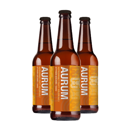 Aurum 500ML Beer by Eden River Brew Co (Case of 12) | Eden Mill Distillery St Andrews