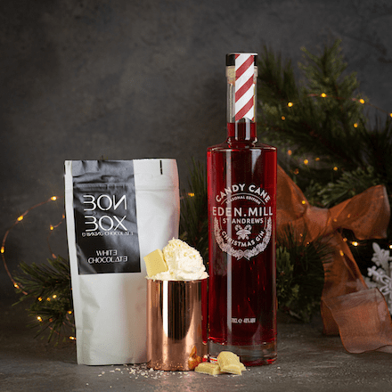 BonBox Hot Chocolate x Candy Cane Gin | Eden Mill Distillery St Andrews