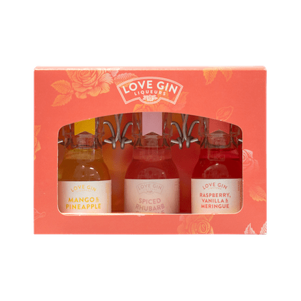 Love Gin Liqueurs Set 3 x 5CL Miniatures | Eden Mill Distillery St Andrews