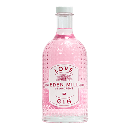 Love Gin, Pink Gin Glass 50CL | Eden Mill Distillery St Andrews