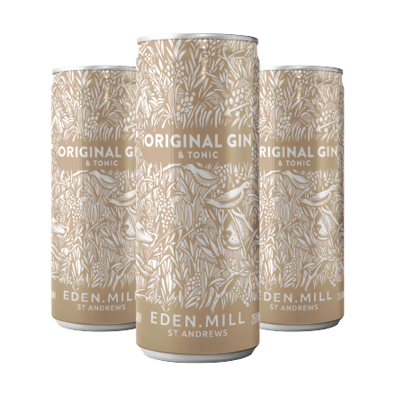 Original Gin And Tonic Pre-Mixed Cans [12 pack] | Eden Mill Distillery St Andrews