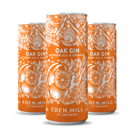 Oak Gin, Ginger Ale and Orange cans (12 Pack) | Eden Mill Distillery St Andrews