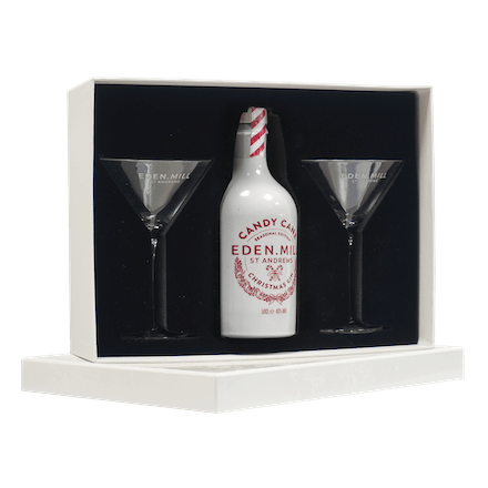 Ceramic Candy Cane Gin Martini Gift Set | Eden Mill Distillery St Andrews