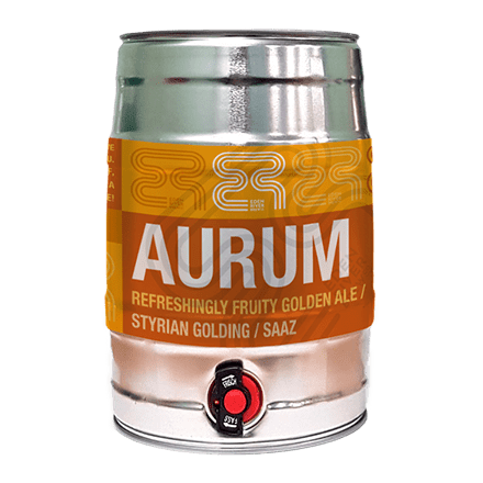 5L Mini Keg - Aurum Beer | Eden Mill Distillery St Andrews