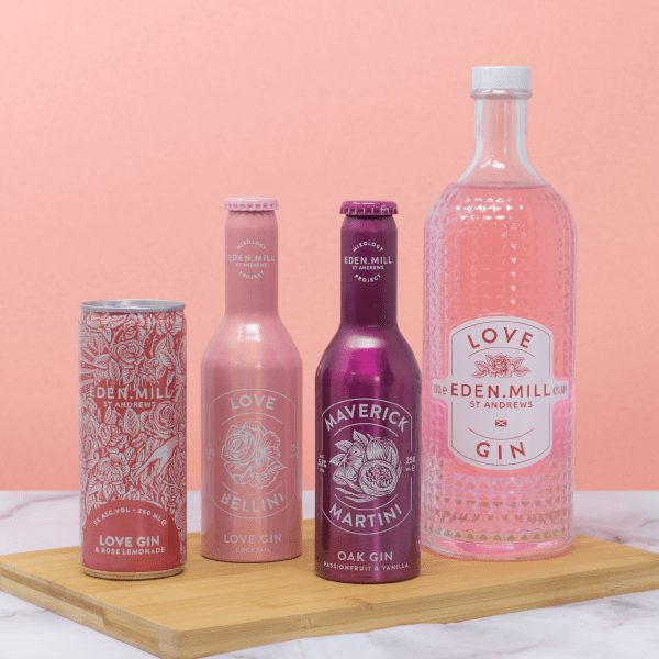 Love Gin & Pre-Mixed Can Treat Box | Eden Mill Distillery St Andrews