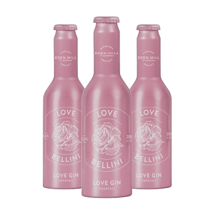 Love Bellini Love Gin Cocktail (12 Pack) | Eden Mill Distillery St Andrews
