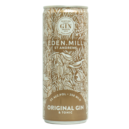 Original Gin And Tonic Cans (12 pack) | Eden Mill Distillery St Andrews