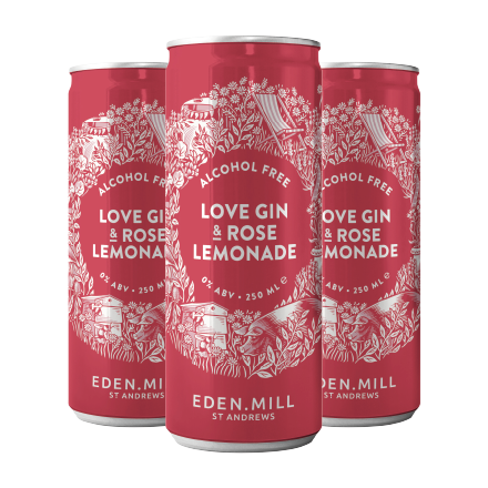Alcohol Free Love Gin and Rose Lemonade (12 Pack) | Eden Mill Distillery St Andrews