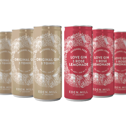 Alcohol Free 12 Pack - Love Gin and Rose Lemonade and Original Gin and Tonic | Eden Mill Distillery St Andrews
