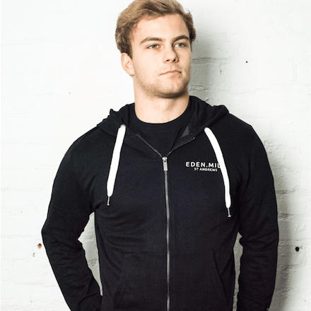 Zip Up Eden Mill Hoodie in Black | Eden Mill Distillery St Andrews