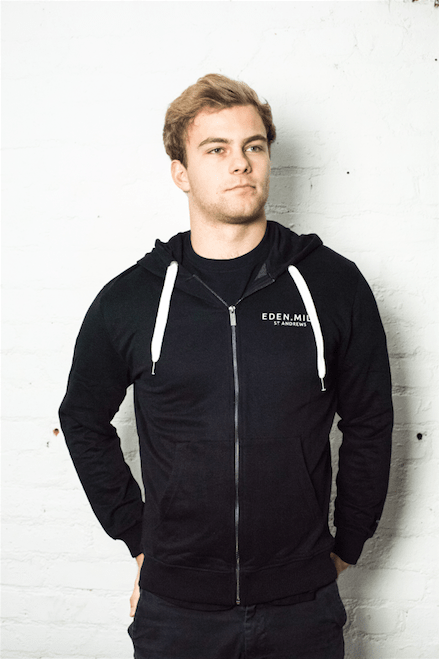 Zip Up Hoodie in Black | Eden Mill Distillery St Andrews