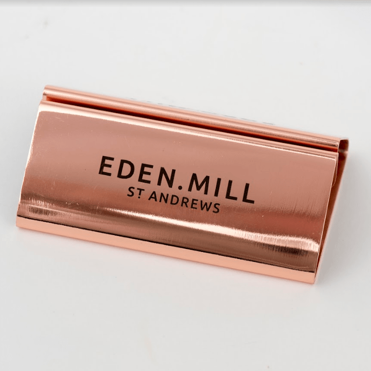 Copper Menu Holders | Eden Mill Distillery St Andrews