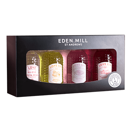 Love Gin Range 4x5CL Miniature Set | Eden Mill Distillery St Andrews
