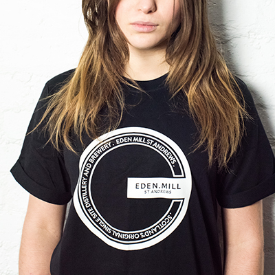 Black Eden Mill t-shirt | Eden Mill Distillery St Andrews