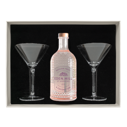 Passion Fruit & Coconut Gin 50CL Martini Gift Set | Eden Mill Distillery St Andrews