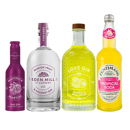 Passion Fruit & Coconut Gin Treat Box | Eden Mill Distillery St Andrews