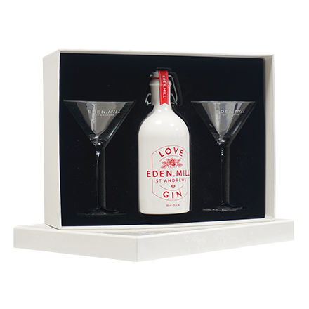 Love Gin Ceramic 50CL Martini Glass Gift Set  | Eden Mill Distillery St Andrews